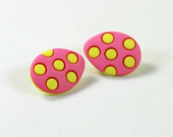 Easter eggs Studs, egg studs, egg earrings, Easter earrings, Easter studs, Colorful earrings
