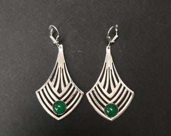 Deco Chevron Earrings