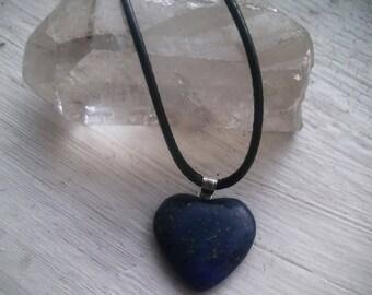 Lapis Lazuli Heart Necklace