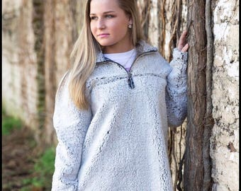 Monogrammed Sherpa Pullover - Sherpa Pullover - Monogrammed Pullover - Personalized Pullover - Monogrammed Fleece - Personalized Fleece