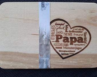 Small breakfast board with Geläserternem imprint Papa