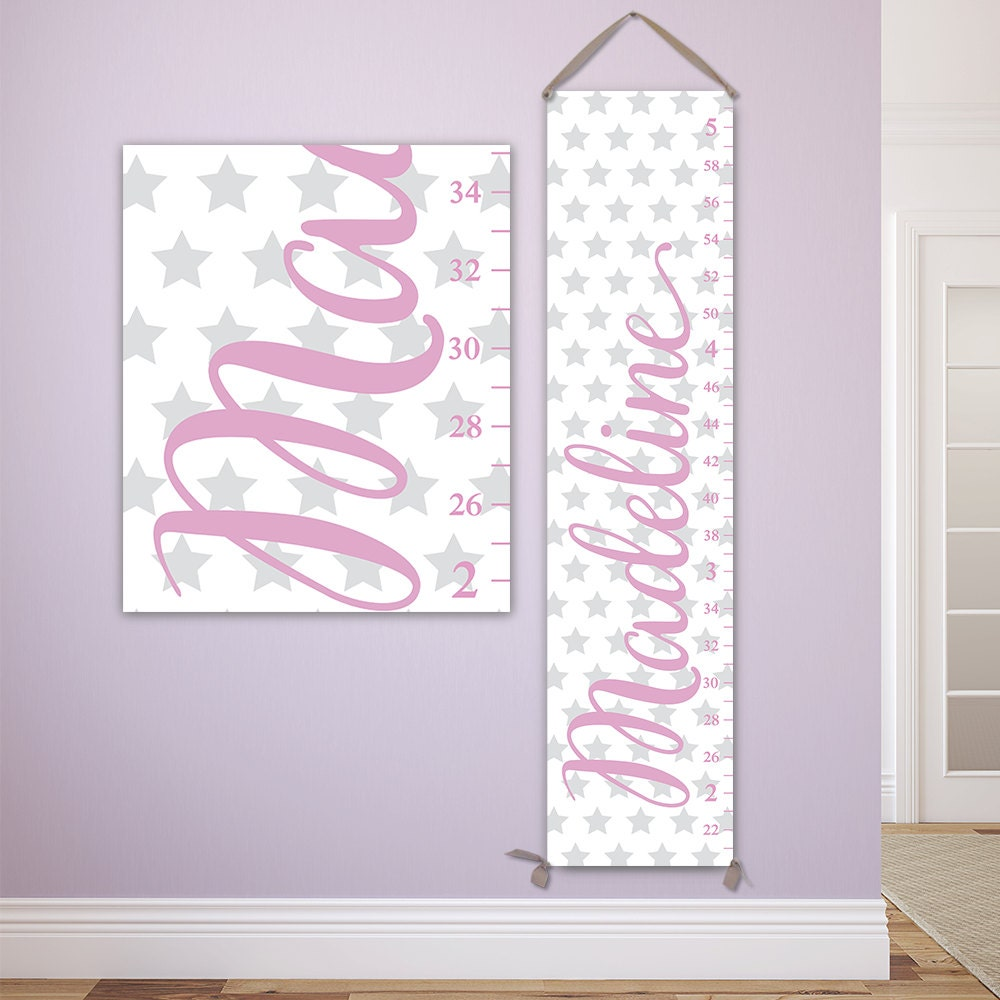 Personalized growth chart for girls with stars design perfect for jolieprints nvjuhfo Gallery
