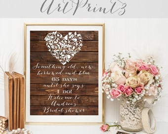 Rustic Bridal Shower Welcome Sign, Something Old New Borrowed And Blue Bridal Shower Welcome Sign, Barn Wood Wedding Shower Sign Printable