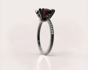 Black and red ring Etsy
