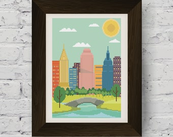 New York City Skyline Cross Stitch Pattern (Digital Download)
