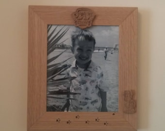 Photo Picture Frame Solid Oak Wooden Paw Patrol Engraved 10 X 8