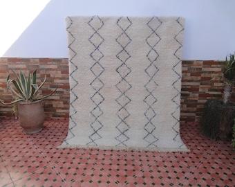 beni ourain rug vintage 100% WOOL berber moroccan rug