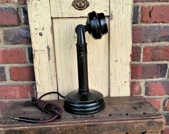 Candlestick Intercom/Swithcboard Telephone - Complete Original Station / Operator Phone w/ Side Switch