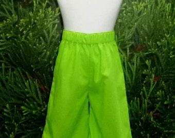 Green Ruffle Pant, Girl Green Pant, Ruffle Pant, Size 12m to 6