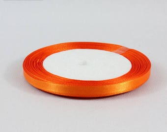 22 m orange 6 mm satin ribbon