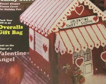 Plastic Canvas Magazine 16 Holiday and Gift Ideas, Overall Gift Bag, Door Hangers, Valentines Angel, Bath Set, Coasters, Google, Patternlade