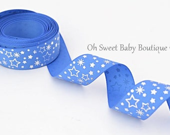 "7/8"" Royal Blue Foil Stars"