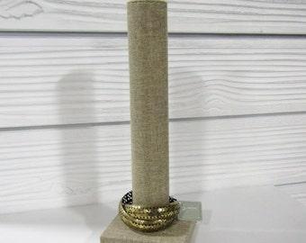"""13"""" H Linen Vertical Bracelet Stacker"""