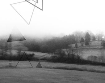 Landscape #6 - Drawing on my Photography - Abstract landscape