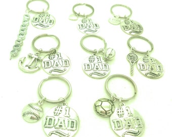 Dad keychain, fathers day gift, daddy father papa gift accessories, fathers day accessory gift, number one dad keychain gift, man gift