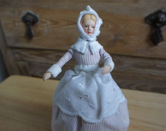 Handmade Emily Maid Dolls House Scale Model Miniature 1:12th Scale