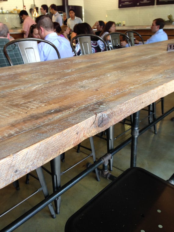 Restaurant Communal Dining Table Reclaimed Wood 12 Foot