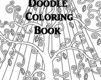 Zen Doodle Coloring Book 50 Digital Download Pages PDF Adult Meditation Art Mandala Paisley Abstract Stencils