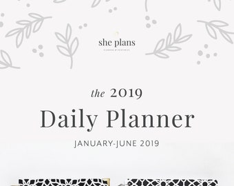 2019 Daily Planner | Six-Month Planner, 2019 Diary, Daily Agenda, Appointment Book, Academic Planner, Style No. JAN19/BWG