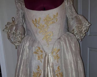 """PLUS SIZED 18th Century """"Scottish"""" Wedding Gown (Custom Made To Order) Labor Fees"""