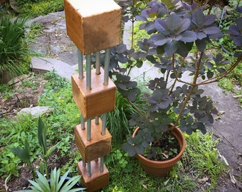 Quad Cubes Tower Garden Sculpture kit