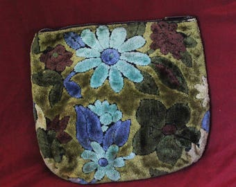 60s velvet textile heavy mod beat clutch