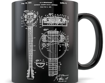 Electric Guitar Gift, electric guitar mug, guitar gift for men and women, guitar gift idea, electric guitar, guitar teacher gifts