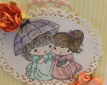 Card-Let The Rain Wash Away...Friendship-Thinking of You-Here for You