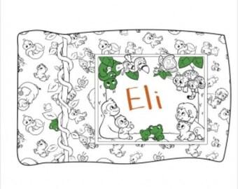 Crayola Coloring Pillowcase Kit Jungle Version by Riley Blake Fabrics