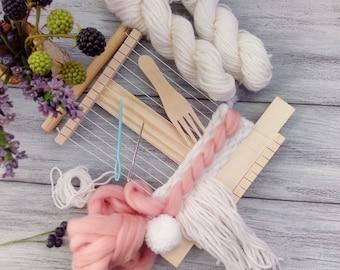 Weaving Loom For Kids Weaving Loom Kit Tapestry Loom Beginner Kids Craft Kit Weaving Tools Frame Loom Mini Frame Looms  Beginner Weaving Kit