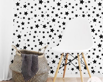 Star Wallpaper / Regular or Removable Wallpaper L010