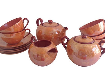 Lusterware Tea Set, 15 Pieces