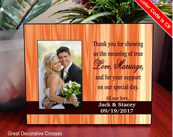 Uncle - Aunt  - Brother Wedding Thank You Gift - Dad and Mom Wedding Gift - Parents Wedding Gift - Personalized Picture Frame, FWA014