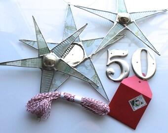 A 50.00 Gift Certificate--Stars, Baker's Twine, Metal Letters etc.