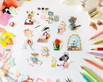 Custom Tiny Paper Animal | custom animal portrait, miniature art, handmade paper illustration, paper cut art, miniature wall art, custom art