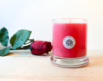 Love Spell || Valentine's Day || Hand Poured || Organic Soy Candle // 9 oz. Glass