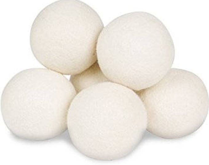 Set of Three Dryer balls made from 100% Sheep's Wool