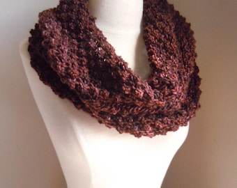 Merino wool long cowl - Chocolate