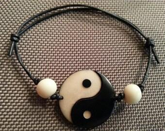 Vegetable Ivory Bracelet-Tao-Yin Yang