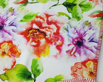 CLOTH WIPE, Floral, Flowers,Bamboo Wipes,Wipes,Baby Washcloth,Unpaper,Reusable Wipes, Washable Towel, Baby Gift, Baby Shower Gift, Napkin