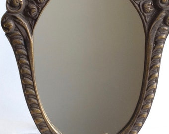 Feminine Dressing Oval Brass Table Mirror Bedroom Mirror