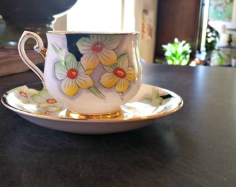Tea Cup Vintage Thomas Forrester & Sons Bone China Art Deco