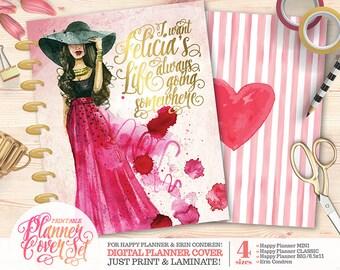 """Printable Planner/Binder Cover SET - """"Felicia""""   Happy Planner   Erin Condren   U.S. Letter Binder   Instant Download"""