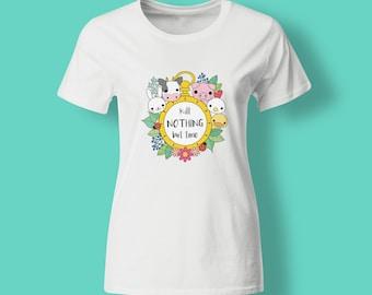 Vegan t-shirt - Kill Nothing but Time unisex womens t-shirt - vegetarian tee - cruelty free - eco-friendly - gift for her - vegan clothing