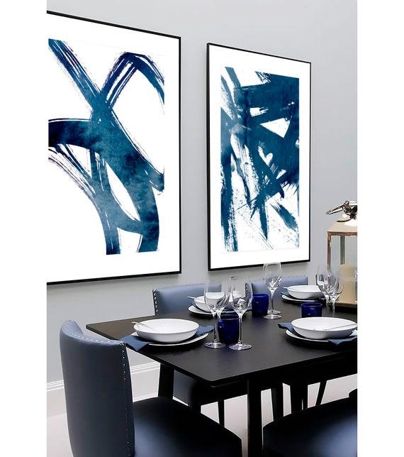 Set of 2 blue prints, Set of 2 prints, Set of 2 Wall Art, Set of 2 Abstract Art, Blue wall Art, Blue Abstract, Set of 2 Abstract Prints,