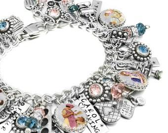 Chef Charm Bracelet, Silver Bracelet, Baking Charm Bracelet, Gifts for Cooks