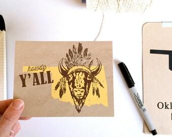 Howdy Y'all : Postcard