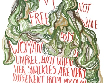 Illustration - Audre Lorde quote