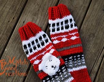 """Crocheted """"Free Spirit"""" Slipper Socks, Knee High Socks, Knee Length Crochet Socks, Bulldog Knee Socks - Made to Order"""