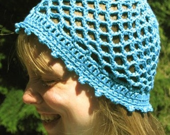 Lacy Turquoise Summer Cap